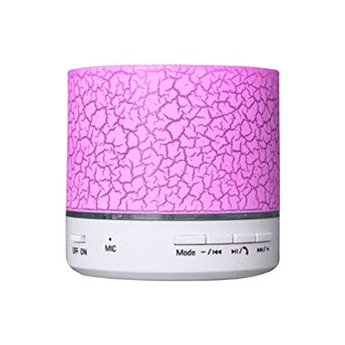 Hrph Dazzle Farbe LED beweglicher drahtloser Bluetooth Ton Surround-Sound-Lautsprecher mit Mikrofon TF Karte für Handy / PC (Led Surround-sound-lautsprecher)