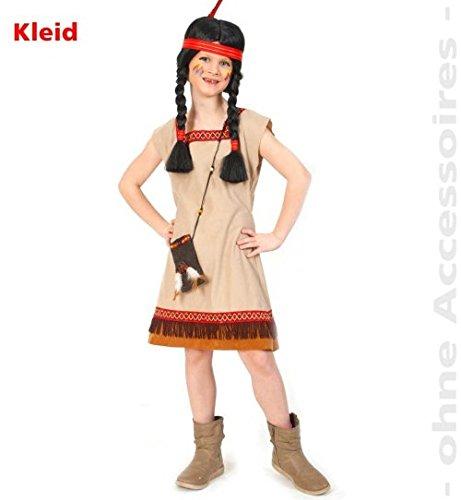 Indianerin Kleid 98 Mädchen Fasching Kinder-Kostüm 1tlg