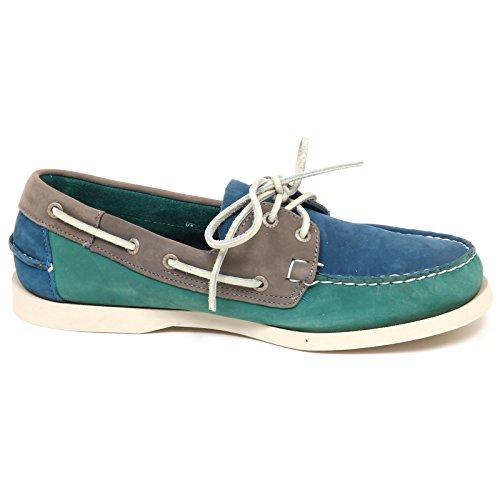 Sebago E0884 (échantillon Sans Boîte) Mocassino Uomo Blu / Vert Mocassins Chaussures Homme Blu / Verde