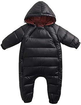 Baby Winter Overall Mit Kapuze Schneeanzüge Mädchen Jungen Dicke Strampler Outfits für 6-24 Monate