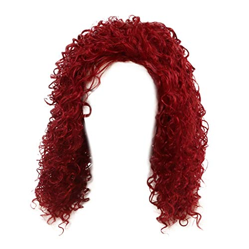 DOGZI Perücke Kappen Caps Haarnetz Dehnbare Perückekappe, Frauenbrasilianisches Kurzes Gewelltes Gelocktes Volles Hohes Perückentemperaturfaserperückehaar