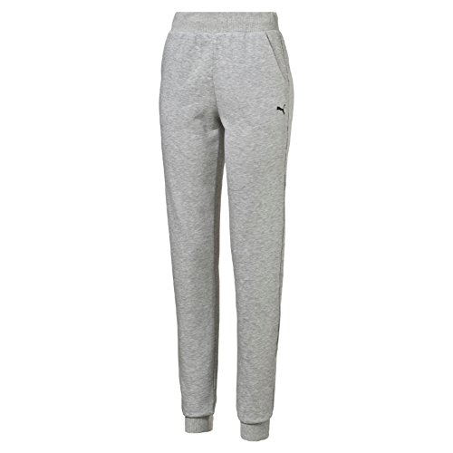 PUMA Damen Hose ESS Sweat Pants TR W, Light Gray Heather, L