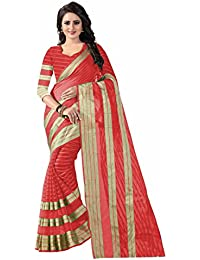Raptus Lifestyle Cotton Saree With Blouse Piece(Ragini Red)