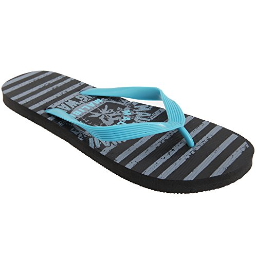 Flip Floso® flops Homens Cinza Vagueiam Havaí Design Azul Maui f7x47Xrq