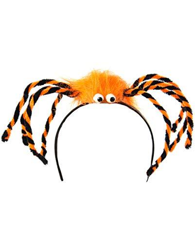 Horror-Shop Spinnen Kopfschmuck für Kinder | orange (Spinne Bein-halloween-kostüm Ein Machen)