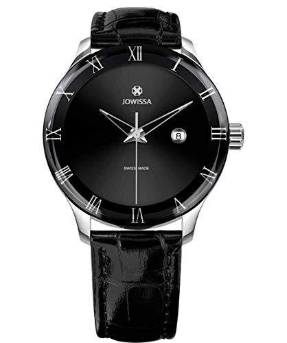 Jowissa Romo Swiss J2.193.L - Reloj para Hombre, Color Negro y Plateado