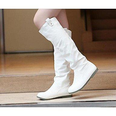Wuyulunbi@ Scarpe Donna Autunno Inverno Moda Stivali Stivali Chunky Tallone Punta Quadrata Mid-Calf Scarponi Per Casual Marrone Rosso Bianco Nero US8.5 / EU39 / UK6.5 / CN40
