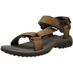 Teva Terra Fi Lite Leather M's, Sandalias de Senderismo para Hombre, Marrón (Brown), 40.5