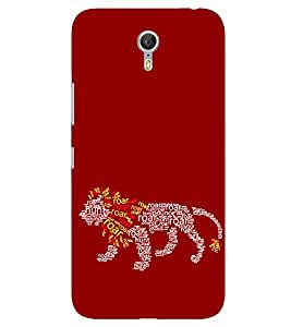LENOVO P2 2016 LION ROAR QUOTE PRINTED BACK CASE COVER by SHAIVYA