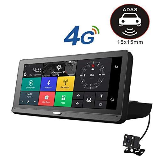 RDJM Spiegel Dash Cam Full HD, Dashcam Auto 7.84 Zoll IPS-Touchscreen Dual Lens 1080P Armaturenbrett Autokamera, Parkplatz-Monitor, G-Sensor, Loop-Aufnahme, ADAS (SD-Karte Ist Nicht Enthalten)