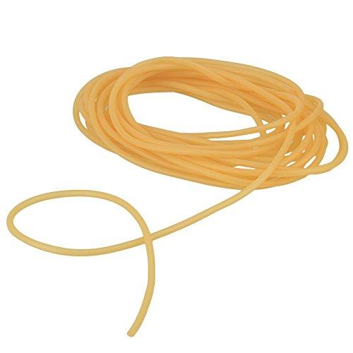 WEONE sicurezza Sostituzione 4 x 6 mm di lunghezza 10m giallo lattice di gomma naturale laccio emostatico Banda Per la parte della catapulta elastica esterna Slingshot fitness e corpo movimento