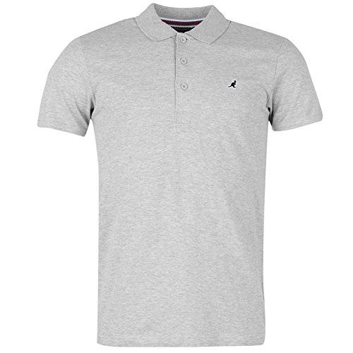 Kangol Herren Slim Fit Polo Poloshirt T Shirt Gerippt Kragen Kurzarm Tee Top XXL (Classic Ribbed Top Tank)