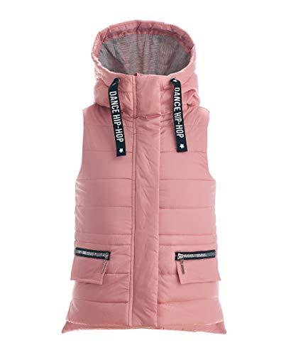 GULLIVER Mädchen Weste   Farbe Hell Rosa   mit Kapuze   Ärmellos   mit Zipper   Baumwolle   für 2-7 Jahre