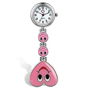 LANCARDO Krankenschwester Herren Damen Armbanduhr Analog Lächeln Herz Uhr Candy Farbe