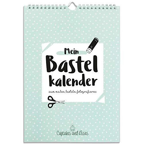 CUPCAKES & KISSES® Kalender zum Selbstgestalten ohne Jahr I A4 Bastelkalender, Fotokalender, Kreativkalender immerwährend I Wandkalender (2015 Kalender-tafel)