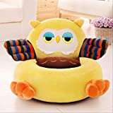 AINIYUE Sitzkissen für Kinder, Cute Cartoon Super Soft Sitzkissen, rutschfeste Sitzmatte, für Kinder erhöht Baby Chair Pad 50cm orange