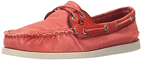 Sperry Red Wedge Canvas Boat Shoes-UK 6