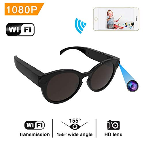 YMXLJJ Gafas Sol Inteligentes Full HD 1080p WiFi Mini