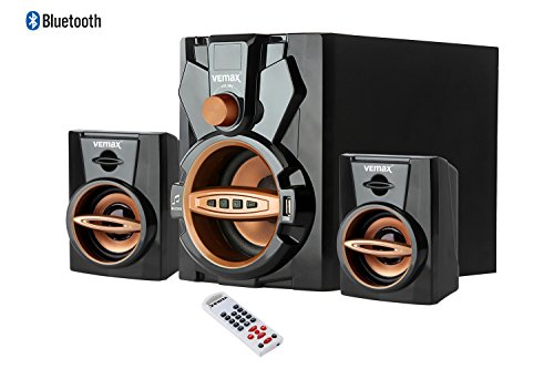Vemax Arch 2.1 Bluetooth Multimedia Home Theater System with FM USB AUX (Black & Golden)
