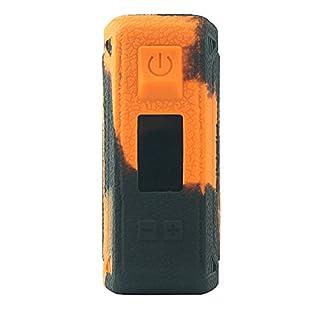 Schutzhülle Silikon Hülle Sleeve Case Skin Cover für GeekVape Aegis 100W TC Orange/Schwarz