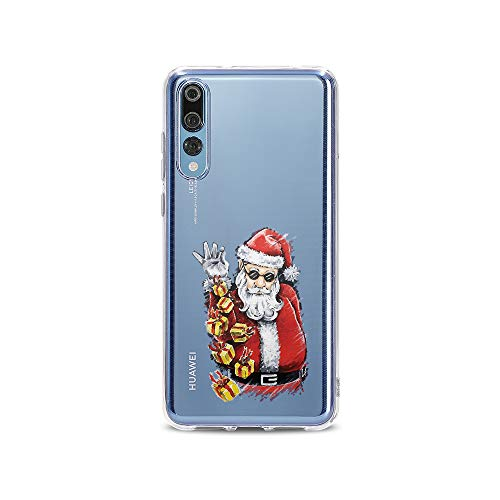licaso P20 Pro P20pro Handyhülle TPU mit Cool Santa Claus with Gifts Print Motiv - Transparent Cover Schutz Hülle Aufdruck Lustig Funny Druck