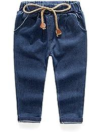 BOBORA Bebes Ninas Jeans Casuales Denim Harem Pantalon Para 2-7 Anos