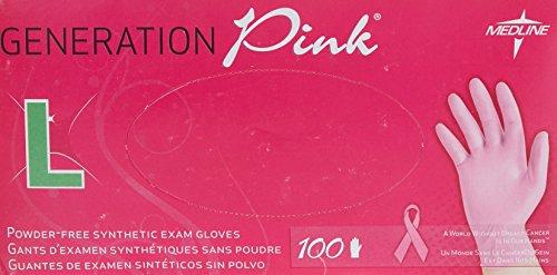 medline-grande-rosa-sin-polvo-vinilo-guantes-pack-de-100