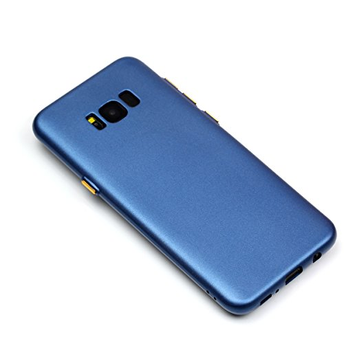 YHUISEN Galaxy S8 Case, Solid Color Matte Slim Fit Soft TPU Gel Langlebig Schock Absorbing Schutzhülle Für Samsung Galaxy S8 ( Color : Blue ) Blue