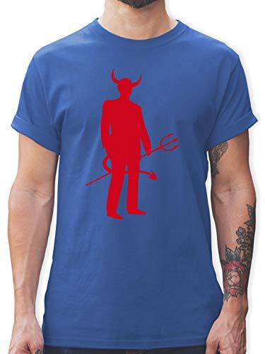 Halloween - Teufel - S - Royalblau - L190 - Herren T-Shirt und Männer Tshirt