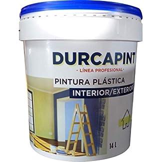 DURCAPINT Revestimiento Sierra Nevada: Pintura Revestimiento liso color blanco económica, para protección y decoración de fachadas, impermeable y transpirable.(4L (6Kg))