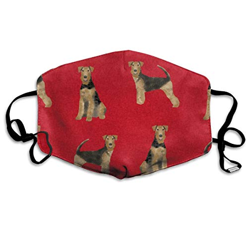Airedale Terrier Hundedecke für Haustiere, Anti-Staub-Maske, waschbar, wiederverwendbare Mundmasken