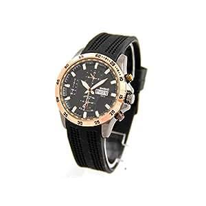 Bariho Homme montre2945–Montre de Poignet, Bracelet en Silicone Noir