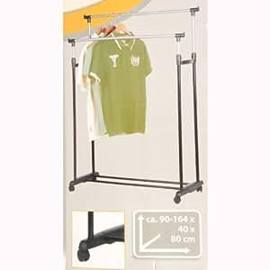 garderobenst nder doppel kleiderstange kleiderst nder 2 stangen 4 rollen k che. Black Bedroom Furniture Sets. Home Design Ideas