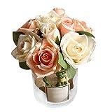 Fast-Shop Bouquet artificiel 9 têtes de mariée Bouquet de mariage Décoration de...
