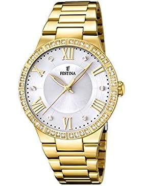 Festina Damen-Armbanduhr Analog Quarz Edelstahl F16720/1