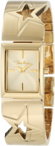 Thierry Mugler - 4711002 - Montre Femme - Quartz Analogique - Cadran Doré - Bracelet Acier Inoxydable Doré