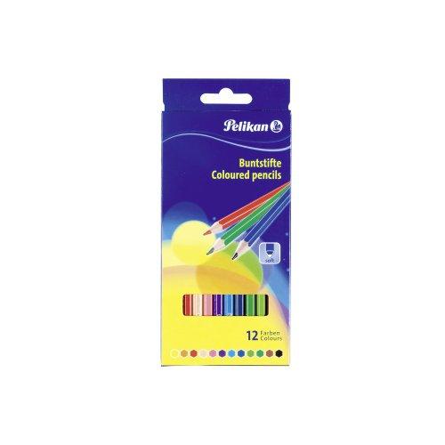 Pelikan 724005pastelli scatola di cartone con 12colori, multicolore (confezione da)