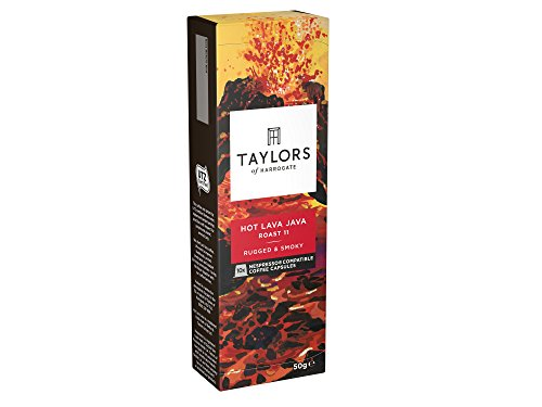 Shop for Taylors of Harrogate Hot Lava Java Espresso Coffee Nespresso Compatible Capsules 10 (Pack of 6, Total 60 Capsules) by Bettys & Taylors of Harrogate Limited