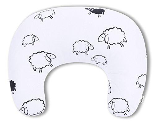 AMI Lian® Cojín Cojín Lactancia cervicales (60x 42cm) Ink. Funda oveja blanco