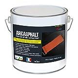 Peinture bitume goudron asphalte macadam résine sol extérieur béton enrobé rénov décoration ARCASPHALT - blanc - 3.75 KG...