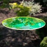 Sonnenfänger - Sun Dancer KREIS 200 grün - wetterfest, lichtreflektierend - Acrylscheibe: Ø20cm - inkl. Kegelzapfen und Nylonschnur zum Hängen