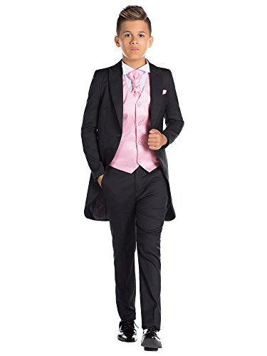 (Paisley of London Jungen Schwarz Kostüm zu Schwanz, Jungen Morning Halt, Jungen Stinkefinger Halt, 12–18Monate–13Jahre Gr. 8 Jahre, Rosé)