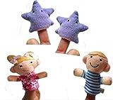 Udane Soft Puppe Puppen Spielzeug 4 Stück Twinkle Twinkle Little Star Fingerpuppe für Kinder Lernen Story Toy
