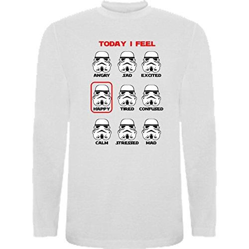 The Fan Tee Camiseta Manga Larga de NIÑOS Star Wars Dark Vader Han Solo Fuerza Kylo Ren Leia 9-11 Años