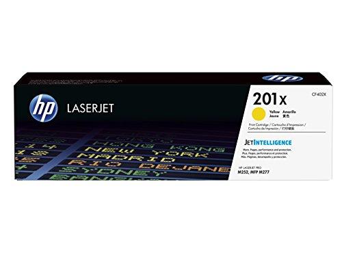 HP 201X (CF402X) Gelb Original Toner mit hoher Reichweite für HP Color Laserjet Pro M252, M274n, M277 - - Hp Drucker 2300
