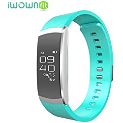OMNiX™: IWOWN I6 Pro Smartband 24h Heart Rate Monitor Fitness Tracker Sleep Monitor Wristband OLED Screen Bluetooth Waterproof Smartwatch Muti-Sport Management For Iphone IOS8. 0 / Android 4. 3 , Green