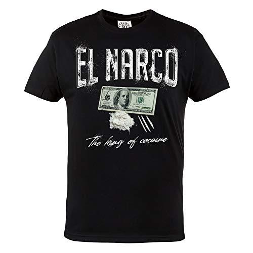 ee8143bdd810 Rule Out Hombre Informal Camiseta Pablo Escobar. Rey de Cocaine. el Narco.  Serie