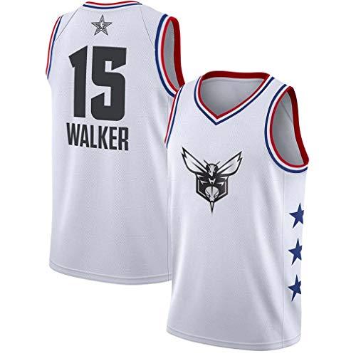 YISUDA NBA Basketball Jersey Hornets 15# Walker Herren Basketball Trikots Westen Tops Ärmel Basketball T-Shirts,A,S