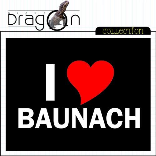 T-Shirt mit Städtenamen - i Love Baunach - Herren - unisex Schwarz