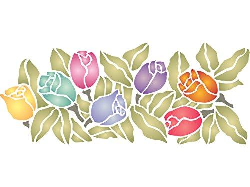 diseno-de-tulipanes-tamano-395-x-165-cm-reutilizable-de-pared-plantillas-para-pintar-mejor-calidad-i